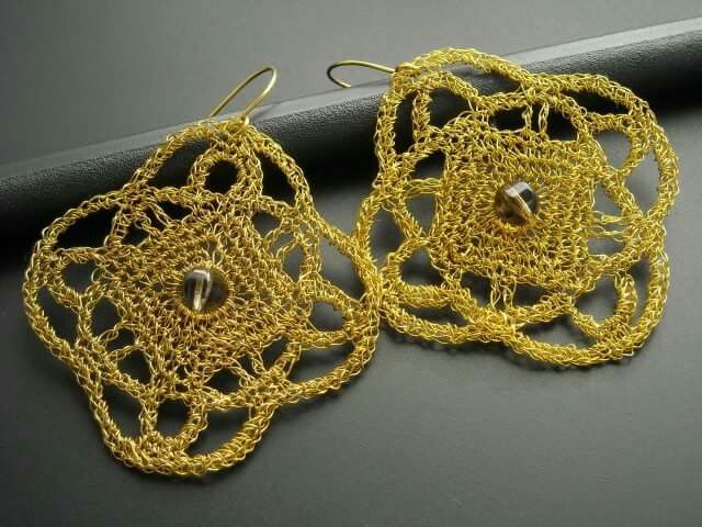 Wire crochet - earrings