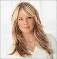 Best Long Layered Hairstyles with Bangs for Older Women with ...
