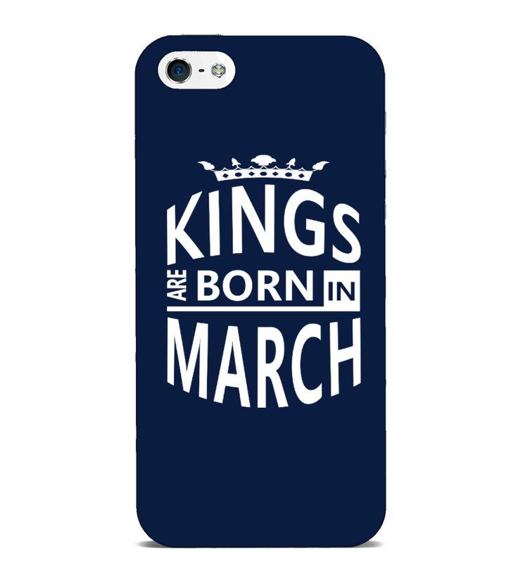 Original March Born Men iPhone/Samsung Case