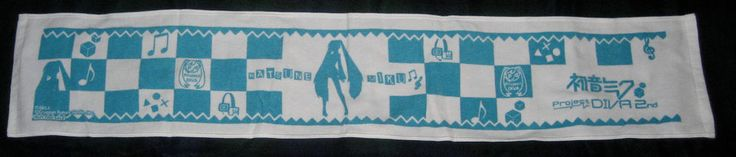 Miku Hatsune  Decorative Towel from Project DIVA 2nd Game ~  New In Package