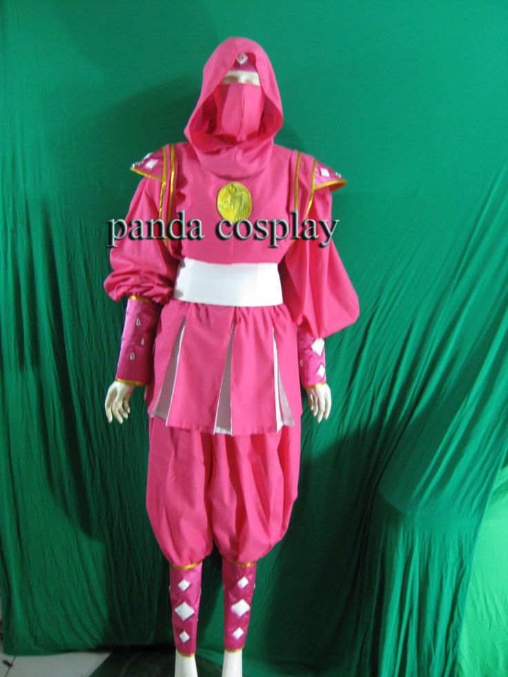 Mighty Morphin Power Rangers Pink Ninjetti Ninja Ranger Cosplay Costume