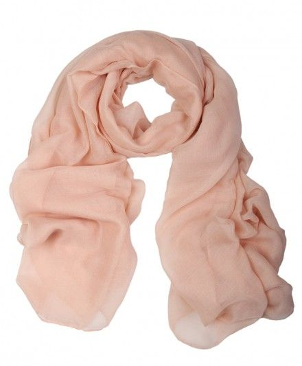 Soft Plain Summer Light Peach Hijab