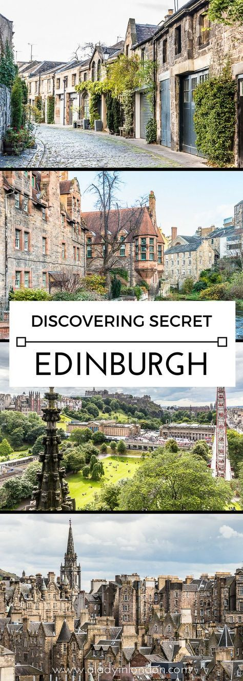 5 secret places you have to discover in Edinburgh, from the best views to the prettiest streets in the city. #edinburgh #scotland #uk