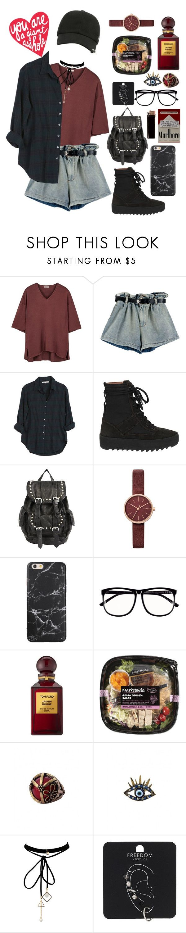"""""""#00063"""" by nglmfrryln ❤ liked on Polyvore featuring American Vintage, Xirena, Yeezy by Kanye West, Steve Madden, Skagen, H&M, Tom Ford, WithChic and Topshop"""