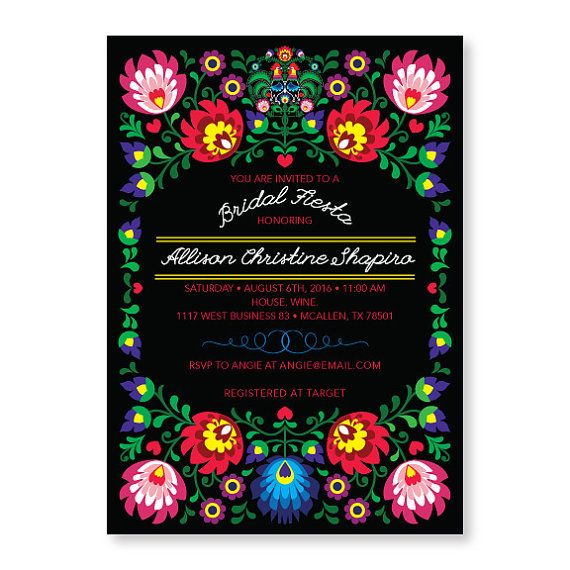Fiesta Invitation, Cinco De Mayo Party, Mexican Invitation, Fiesta Bridal  Shower Invites, Couples Engagement Party, Stock The Bar #300