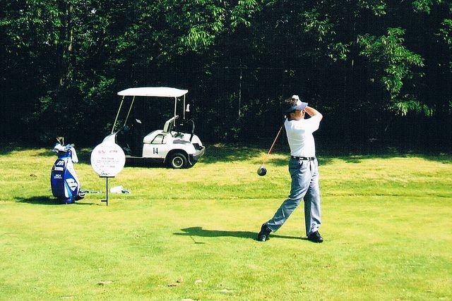 Rick's golf swing