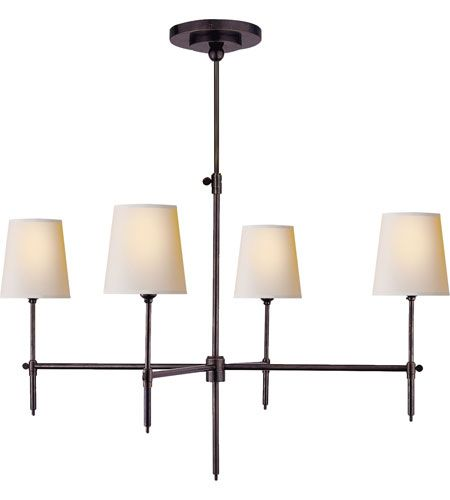 Visual Comfort TOB5003AN NP Thomas OBrien Bryant 4 Light 36 Inch Antique Nickel Chandelier Ceiling