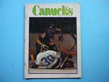 Hockey Vancouver Canucks Original Vintage Sports Memorabilia   eBay