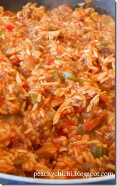 Chicken Sausage & Chicken Jambalaya. Healthy and delicious.
