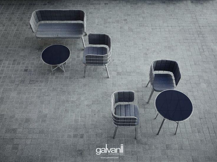 GRID - outdoor galvanize steel chair  www.galvanii.com