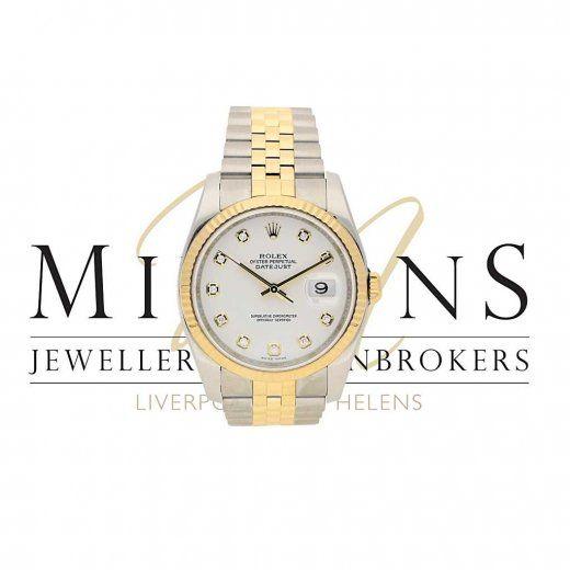 Gents Second Hand Rolex Datejust 116233 - White Diamond Dial