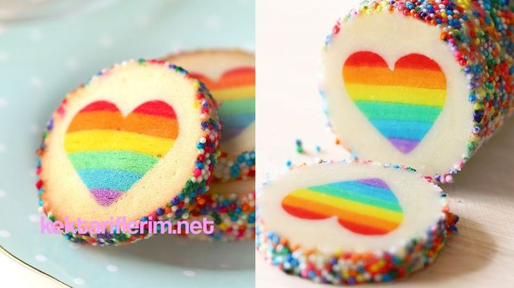 Kalpli Gökkuşağı kurabiye - http://kektariflerim.net/kurabiye-tarifleri/kalpli-gokkusagi-kurabiye.htm
