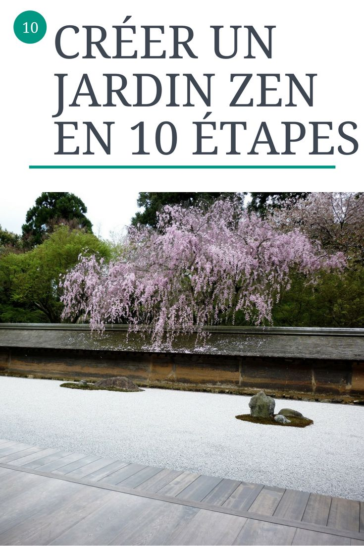 10 étapes pour créer son propre jardin zen : Que des atouts Un jardin zen est un atout incontournable pour mettre en valeur une maison. Que ce soit à l'intérieur ou à l'extérieur , les jardins zen apportent des éléments de nature et relaxant. La délicatesse des jardins zens apporte du charme .#zen #jardin #amour #immobilier #maison #conseils