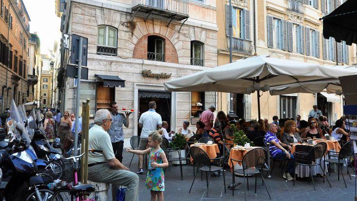 Caffe Ciampini in Rome's Piazza San Lorenzo in Lucina (Credit: Amanda Ruggeri)