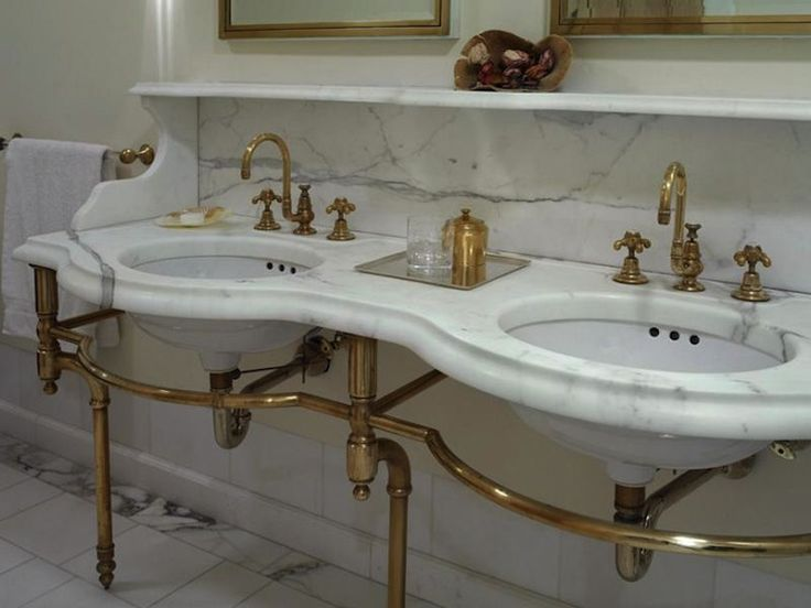 28 Best Images About Authentic Victorian Bathrooms On: double sink washstand