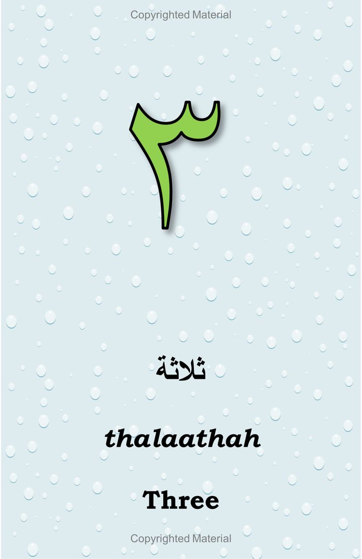 Arabic Numbers By Alia Khaled - Get Your Copy Now $9.25 - Also available at Amazon.com
