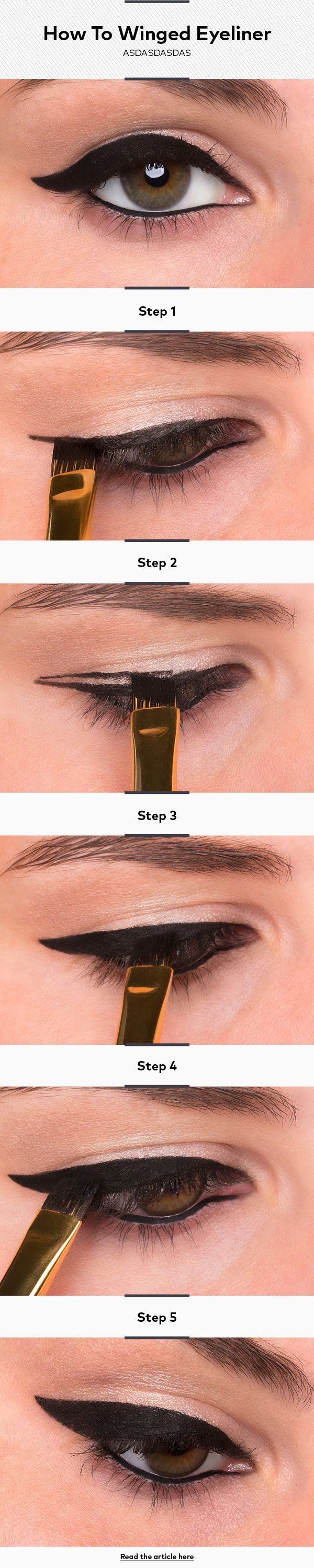 How To Do Winged Eyeliner or Cat-Eye Liner   NEW Real Techniques brushes makeup -$10 http://youtu.be/tl_2Ejs1_9I   #realtechniques #realtechniquesbrushes #makeup #makeupbrushes #makeupartist
