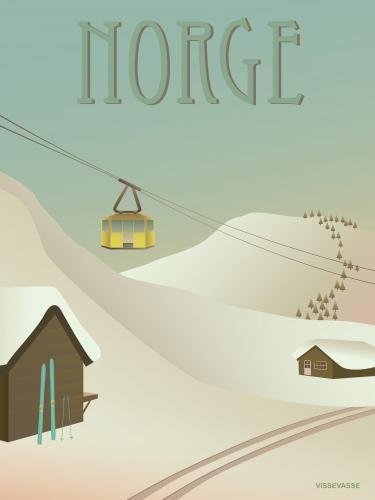 Norge - Sneen » Vissevasse » Design plakater » Plak