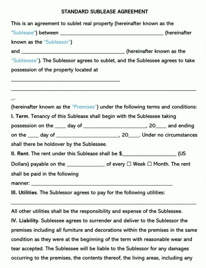 Printable Subletting Rental Agreement Template Excel In 2021 Rental Agreement Templates Free Business Card Templates Templates