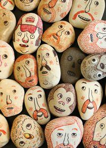 Pebble painting goodies by Scott Garrett