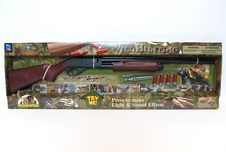 Pump Action Plastic Shot Gun with Duck Call & sounds by New Ray