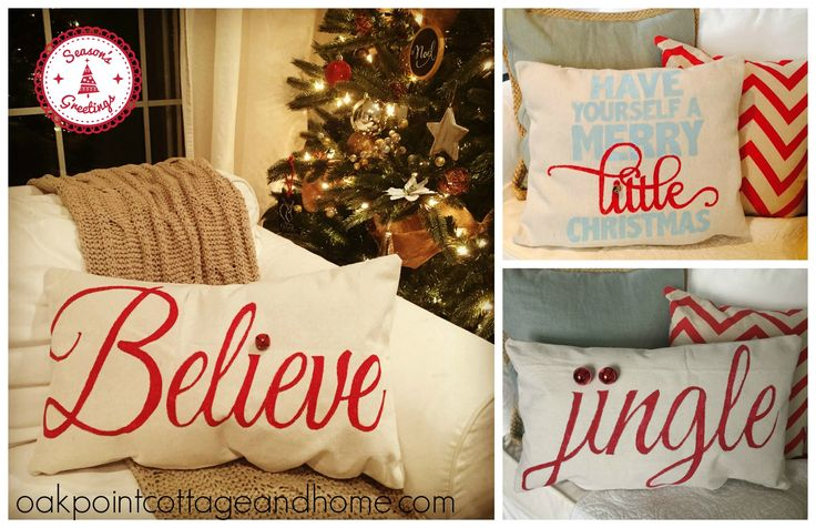 Christmas Pillows.  DIY