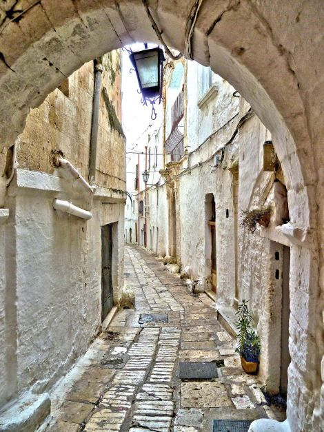 Ostuni, La Citta Bianca in Puglia. My grandfather was from this little white washed town in the heal of Italy.