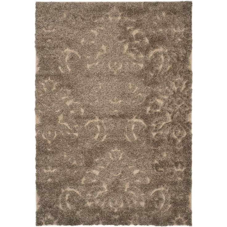 Florida Shag Smoke/Beige (Grey/Beige) 4 ft. x 6 ft. Area Rug