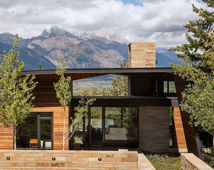House and Artist's Studio Embracing Spectacular Views in Wyoming: charming  house and artist's studio envisioned