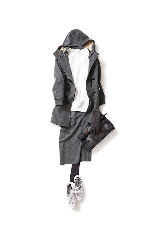 Kyoko Kikuchi's Closet #kk-close 好きなコンビ、スウェット×タイトスカート。