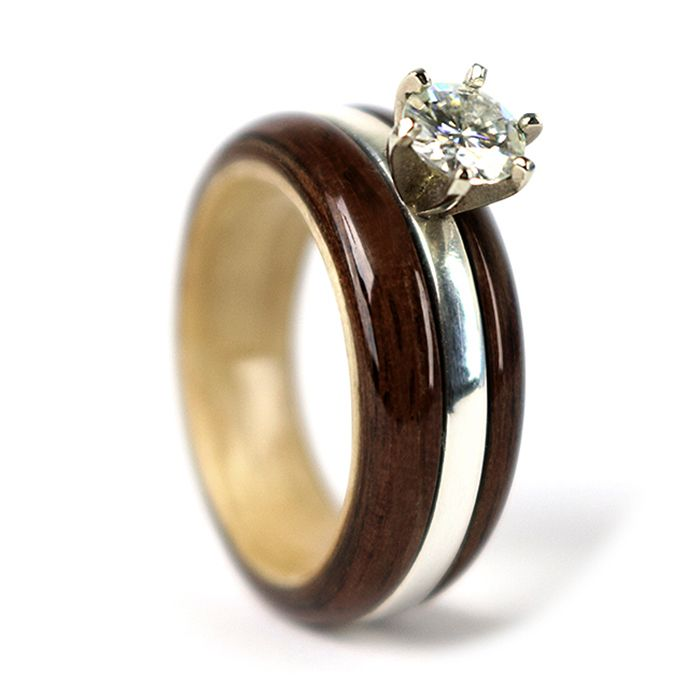 Simply Wood Rings Love Is Now Walnut Maple Engagement Ring More