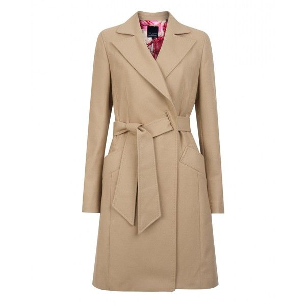 Ted Baker JETTE - Long wool belted coat ($550) ❤ liked on Polyvore