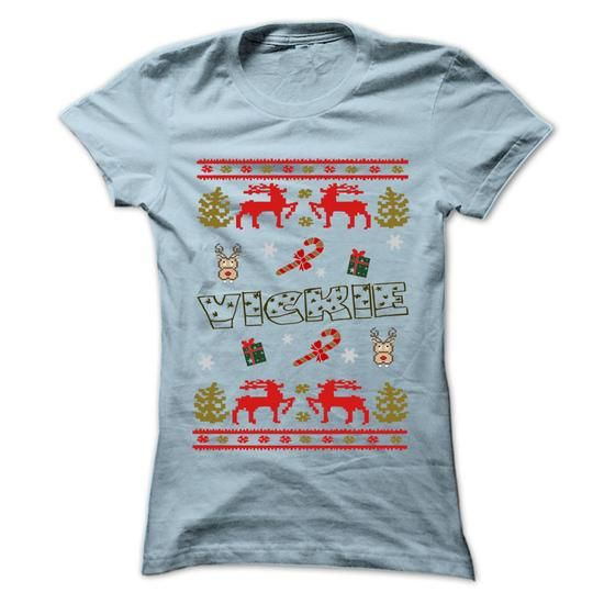 Christmas VICKIE ... Cool VICKIE Name T Shirt ⓛⓞⓥⓔ