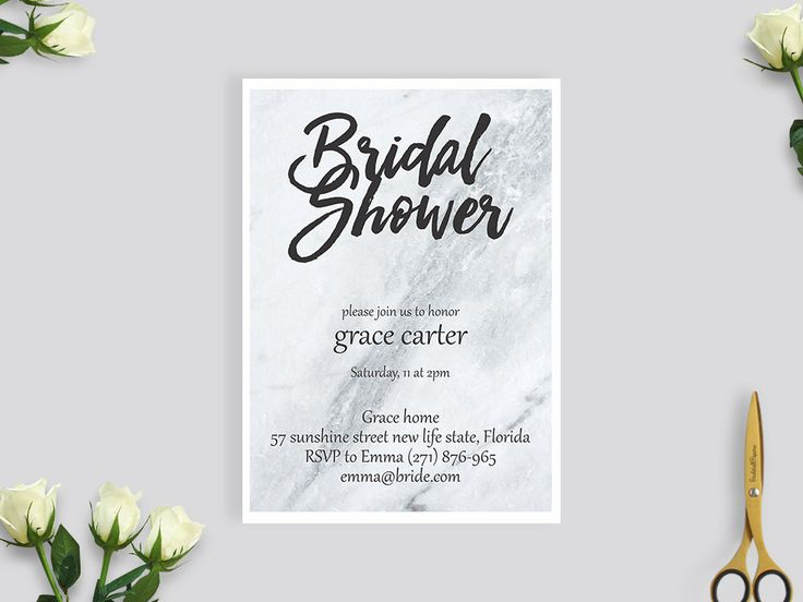 Simple marble printable bridal shower . simply luxurious match #BS201 by BRIDETALKpaperie on Etsy