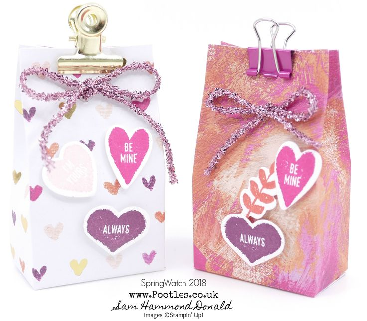 SpringWatch 2018 - 6 Valentines Love Hearts Boxes from 1 Sheet of DSP!