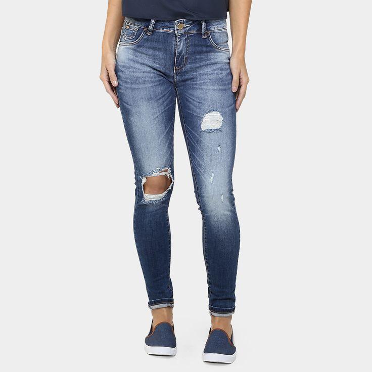 Compre Calça Sawary Skinny Estonada Rasgada Jeans na Zattini a nova loja de moda online da Netshoes. Encontre Sapatos, Sandálias, Bolsas e Acessórios. Clique e Confira!