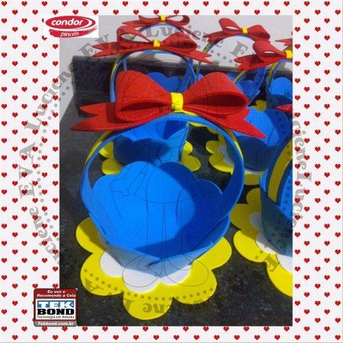 LAS MANUALIDADES DE CLAUDIA (TODO SACADO DE LA WEB): Souvenirs canastitas Blancanieves con moldes...( sacados de la web..)