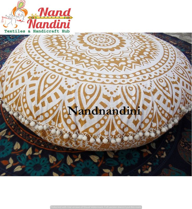 Indian Ombre Mandala Home Decor Sitting Cushion Cover Ottoman Pouf Floor Pillow  #Unbranded #ArtDecoStyle