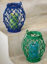 Happy Lanterns 2pc €38.00  Individual €20.00 in colors , green, blue , red & orange