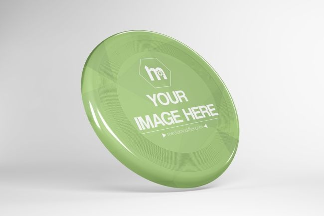Spin your ideas with this flying disc mockup template
