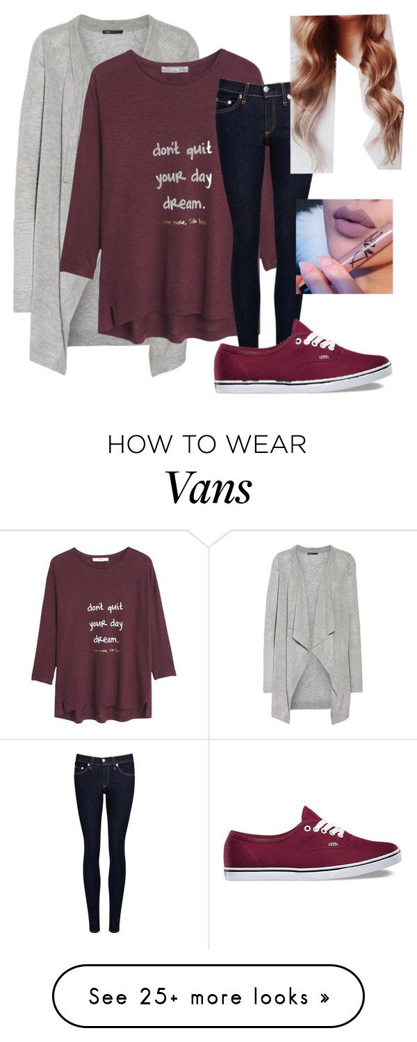 """Casual Day"" by lauren-plans on Polyvore featuring Vince, MANGO, rag & bone/JEAN, Vans and 041"