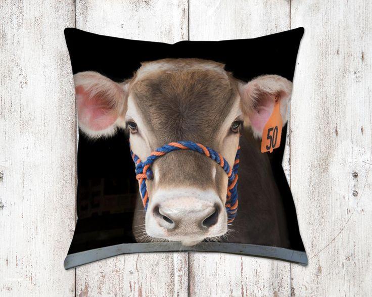 Jersey Cow Bella Decorative Pillow Throw Pillows Farm House Decor Home Decor Gifts For Her Cow Decor Cows Country Decor