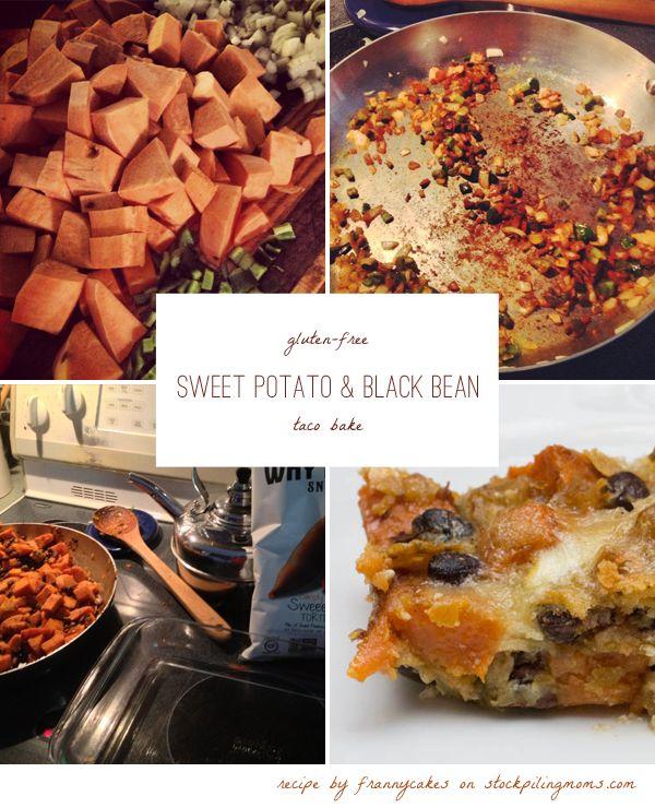 Vegetarian Sweet Potato & Black Bean Taco Bake
