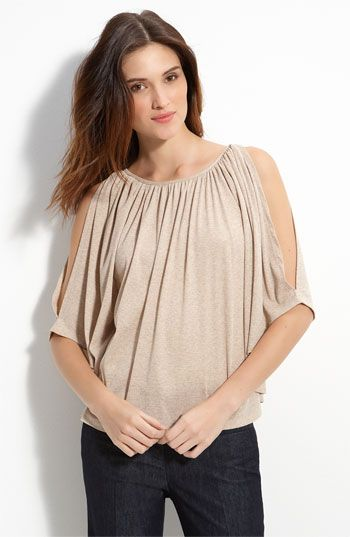 Max & Mia Cold Shoulder Top available at #Nordstrom