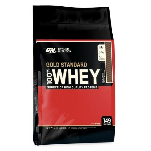 100% Whey Gold Standard, storpack med 4,5kg och över 150 st portioner per behållare! ✔Proteinpulver online ✔Fri frakt ✔Snabba leveranser 2-4 dagar #sportkost #protein #kosttillskott #supplements #pulver #shake #optimum nutrition