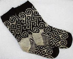 Ravelry: Long Spiral Socks pattern by Catherine Devine