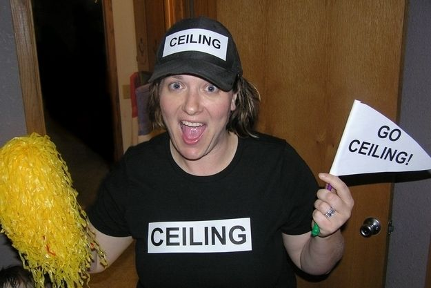 """Funny and Easy Halloween costume: The """"Ceiling Fan""""! Lots more on this webpage too."""