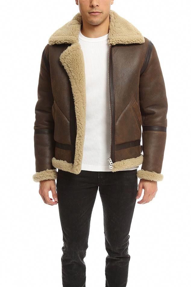 cafab40a436 Acne Ian Leather Shearling Jacket in Brown for Men | Lyst  #leatherjacketsformenbrown