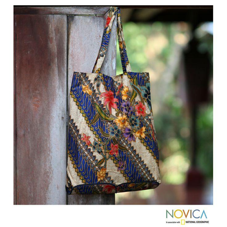Cotton 'Jogjakarta Legacy' Foldable Batik Tote Bag (Indonesia)   Overstock.com Shopping - Top Rated Novica Tote Bags