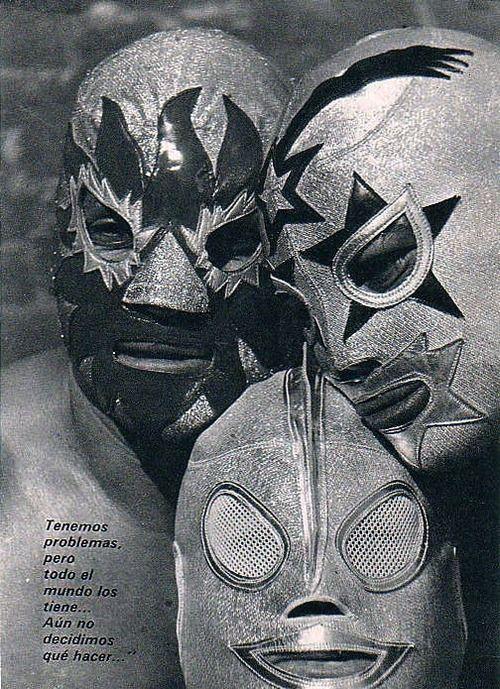 Lucha Libre - El Solar, Super Astro and Ultraman.